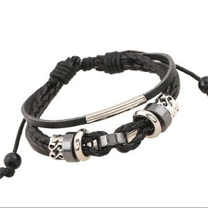 BRAND NEW MULTI LAYER LEATHER BRACELET